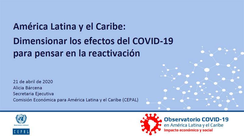 Relatório especial COVID-19 N⁰ 2 - Dimensionar os efeitos da COVID-19 para pensar a reativação