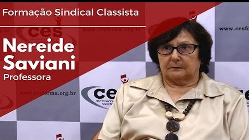Formação Sindical Classista com Nereide Saviani